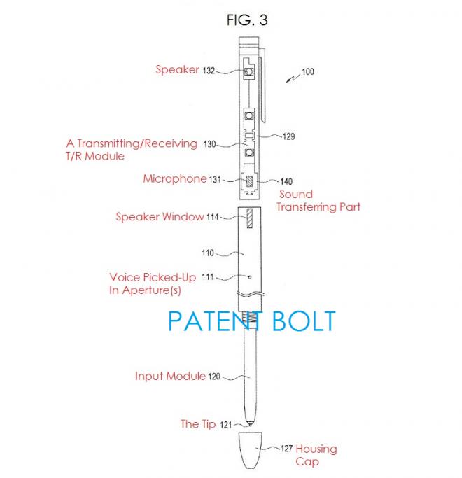 Samsung S Pen - Патентное изображение