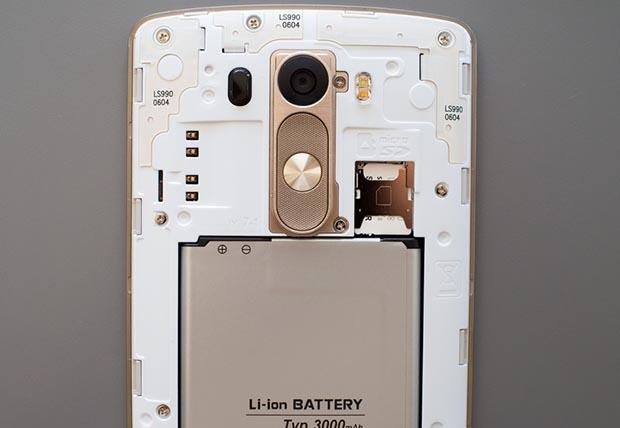 Установка карты памяти - LG G3