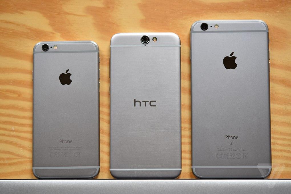 iPhone и HTC One A9