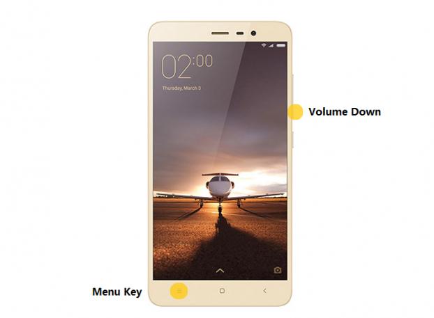 Способ создания скриншота на Xiaomi Mi5 Mi6